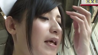 group sex masturbation oral sex black-haired asian blowjob hospital uniform handjob cum shot