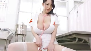 big-tits natural-tits busty-asian nurse japanese trimmed-pussy hitomi-tanaka white-thong huge-tits nurse-tease