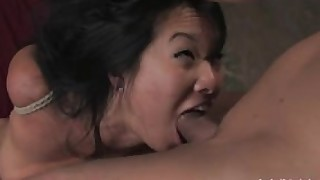 japanese bdsm tattoo bondage skinny rough-sex hardcore asian milf shaved-pussy