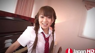 japanhd japanese teenager asian small-tits uniform schoolgirl pussy-licking rimjob blowjob