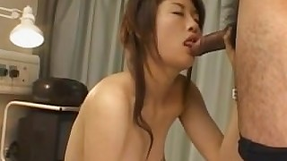 alljapanesepass hairy fingering uniform nurse stockings pov closeup natural-tits blowjob