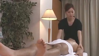 japanese massage handjob brunette blowjob asian