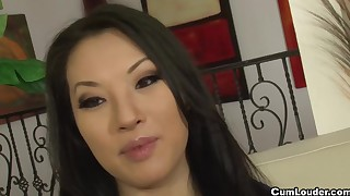 asian big dick blowjob brunette cum swallow cumshot fake tits hardcore long hair perfect body
