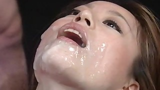blowjob bra bukkake compilation cum swallow dress facial japanese long hair maid
