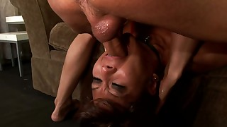asian blowjob collar cum in mouth deepthroat mature sofa