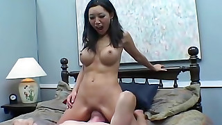 asian big tits facesitting femdom high heels shaved pussy smothering tattoo