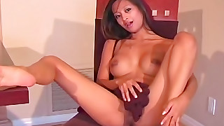 asian big tits foot fetish lingerie pantyhose shaved pussy solo girl
