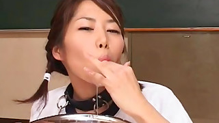 asian blowjob bukkake cum swallow facial japanese pigtails rimjob schoolgirl