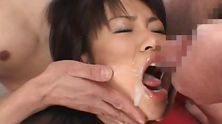 beauty bukkake facial hairy japanese natural tits
