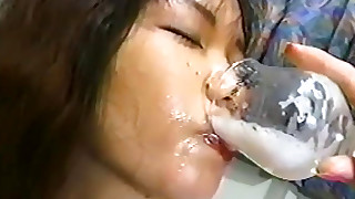 asian brunette bukkake cum swallow gangbang japanese petite small tits