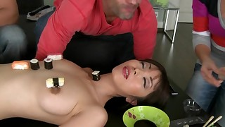 asian blowjob brunette cumshot hardcore mmf perfect body pussy licking riding small tits