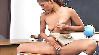 asian fingering masturbation natural tits schoolgirl skirt small tits solo girl thai upskirt