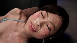 asian facial hairy japanese short hair skinny small tits stockings