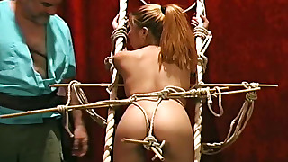 asian bdsm bondage hanging pain skinny small tits torture