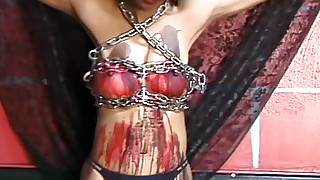 asian bdsm bondage hd nipples outdoor pain torture wax