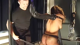 punishment asian shaved pussy small tits bdsm spanking maledom pain pantyhose toys