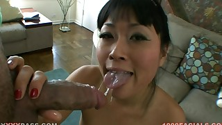 asian blowjob facial hd pov shaved pussy small tits stockings vibrator