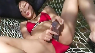 asian bikini dildo fingering lingerie milf outdoor solo girl toys