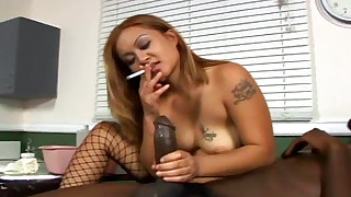 asian big black cock blowjob cigarette fetish hd interracial smoking stockings tattoo