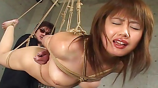 asian bdsm bondage hairy hanging hd small tits wax