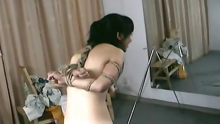 asian bdsm bondage hairy hanging hd slave small tits