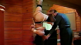 asian bdsm bondage hanging hd nylon small tits stockings