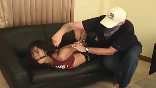asian bdsm bondage hd small tits sofa