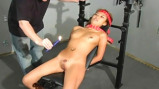 dildo fingering asian tattoo torture bdsm bondage