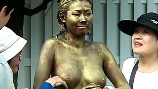 body paint compilation costume japanese natural tits outdoor public riding
