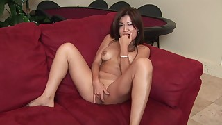 asian beauty masturbation natural tits perfect body pornstar sofa solo trimmed pussy