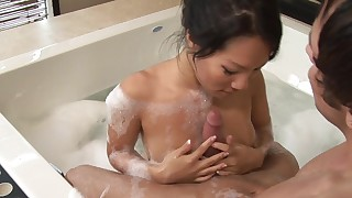 asian babes bathroom blowjob brunette couple massage masseuse masturbation natural tits