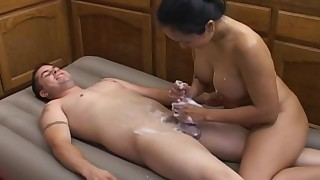 asian bathroom big tits blowjob handjob massage perfect body shaved pussy soapy