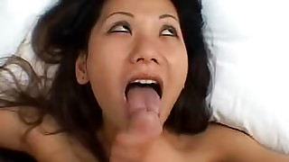 asian ball licking bed blowjob cumshot masturbation milf perfect body small tits