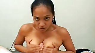 trimmed pussy titjob natural tits milf asian doggy style handjob