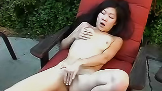 asian fingering masturbation mom outdoor panties pussy shaved pussy skinny