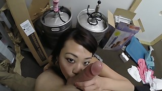 asian ball licking blowjob cum in mouth cum swallow cumshot oral pov