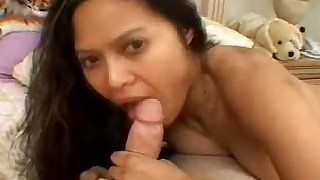 asian bed blowjob cumshot facial natural tits titjob