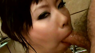 asian ball licking big tits blowjob cumshot facial