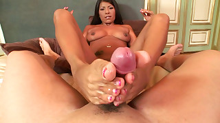asian big tits cumshot footjob pornstar pov tattoo