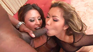 anal asian blowjob doggy style ffm fishnet hardcore interracial pornstar riding