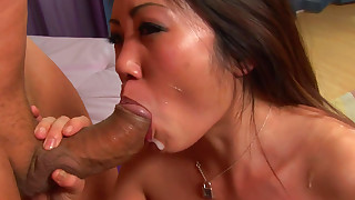 asian blowjob facial handjob lingerie natural tits pornstar tattoo