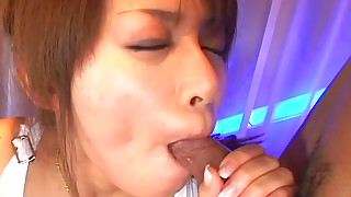 blowjob cumshot handjob japanese mmf natural tits pornstar threesome