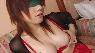 big tits blindfold japanese lingerie pornstar solo stockings toys trimmed pussy