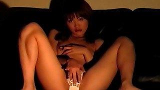 amateur asian brunette hairy japanese masturbation petite small tits sofa solo girl