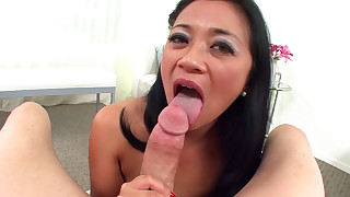 asian blowjob cum swallow handjob mom perfect body pornstar pov