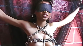 asian babes bdsm gagging nipples outdoor pain tied wax wrap bondage
