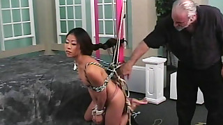 asian bdsm bondage old and young pain rope torture