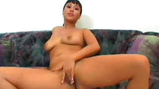 asian ass lingerie masturbation natural tits solo girl trimmed pussy